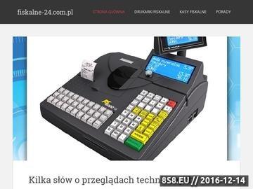 Zrzut strony Wsparcie w wyborze kasy lub drukarki rejestrującej