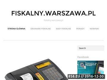 Zrzut strony Informacje o nowoczesnych kasach i drukarkach fiskalnych