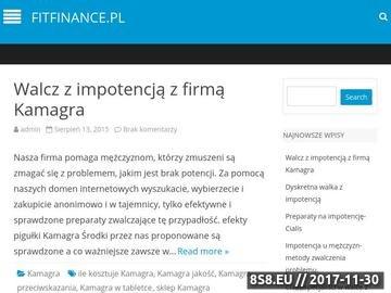 Zrzut strony FitFinance-centrum finansowe-poradnik finansowy, opinie, produkty online