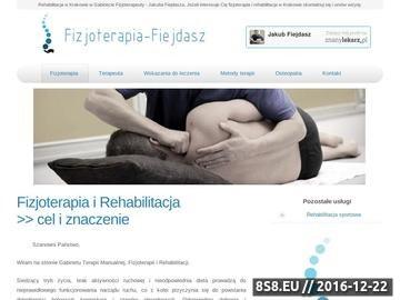 Zrzut strony Terapia Manualna - Gabinet w Krakowie - Jakub Fiejdasz