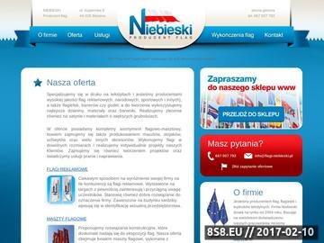 Zrzut strony Flagi sportowe Niebieski