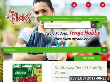 Zrzut strony Internetowy sklep ogrodniczy