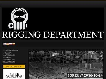 Zrzut strony Informacje na temat riggingu koncertowego