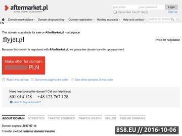 Zrzut strony Prywatny odrzutowiec - Flyjet.pl