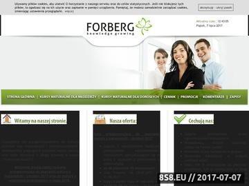 Zrzut strony Forberg - kursy maturalne, gimnazjalne i tłumaczenia