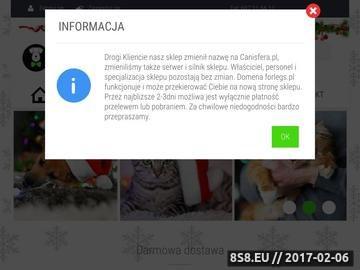 Zrzut strony Zdrowa karma dla psa i kota - forlegs.pl