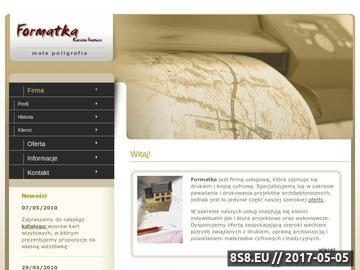 Zrzut strony Formatka - skanowanie