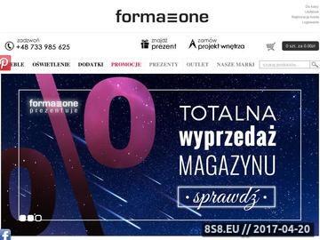 Zrzut strony Formazone - sklep meblowy online