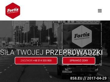 Zrzut strony Fortis przeprowadzki