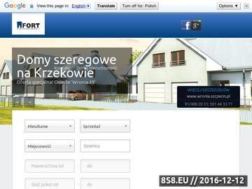 Zrzut strony Oferty nieruchomości Szczecin