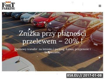 Zrzut strony Parking przy lotnisku Modlin