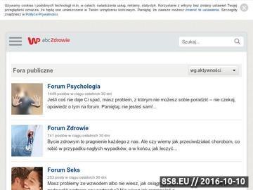 Zrzut strony Forum zdrowie
