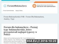 Miniaturka domeny www.forum4bukmachera.pl