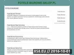 Miniaturka domeny www.fotele-biurowe-sklep.pl
