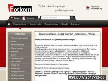 Zrzut strony Oprawa obrazów Warszawa