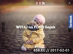 Miniaturka domeny www.foto-gajek.pl