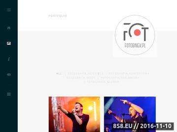 Zrzut strony Fotografia ślubna, reklamowa, dziecięca, koncertowa oraz produktowa