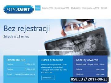 Zrzut strony Rentgen zęba Wrocław - Fotodent