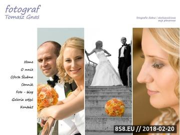 Zrzut strony Profesjonalna fotografia ślubna - Tomasz Gnas