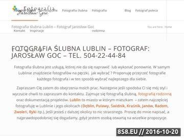 Zrzut strony Fotografia ślubna Lublin - Jarosław Goc