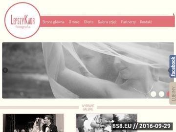 Zrzut strony Zdjęcia ślubne ''Lepszy Kadr''