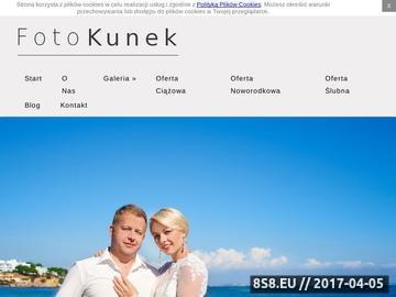 Zrzut strony FotoKunek - fotograf ślubny Bydgoszcz