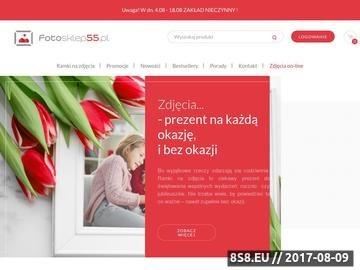 Zrzut strony Sklep internetowy oferujący ramki do zdjęć