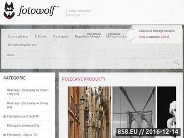 Zrzut strony Fotowolf: Fototapety na zamówienie; projektujemy fototapety, tapety, wnętrza