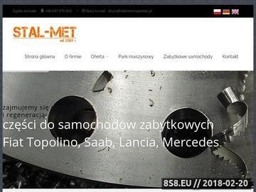 Zrzut strony STAL-MET - produkcja części stalform