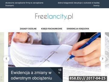 Zrzut strony Freelancity - Freelancer znajdzie u nas pracę przez internet