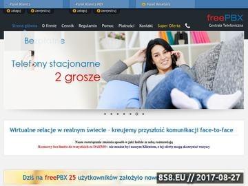 Zrzut strony VoIP Freepbx