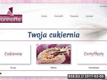 Zrzut strony Fronhoffs Polska sp. z o.o. - torty