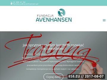 Zrzut strony Fundacja AVENHANSEN zaprasza na otwarte i darmowe szkolenia