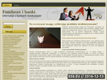 Zrzut strony Fundusze i banki