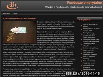 Zrzut strony Informator o funduszach emerytalnych