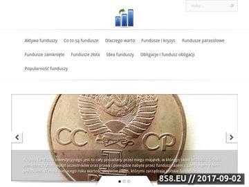 Zrzut strony Fundusze unijne