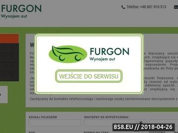 Zrzut strony Furgon: wypożyczalnia samochodów dostawczych Warszawa