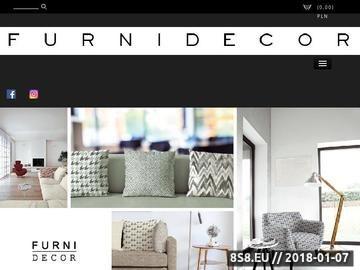 Zrzut strony Furnidecor - sklep z tkaninami