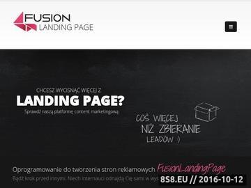 Zrzut strony Strona przedstawia kompleksowe informacje na temat landing page
