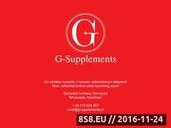 Miniaturka domeny www.g-supplements.pl