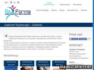 Zrzut strony Fizjoterapia Gdańsk - rehabilitacja, sauna, masaże