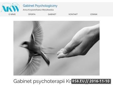 Zrzut strony Psychoterapia indywidualna w Krakowie