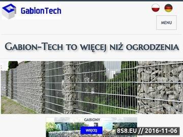 Zrzut strony Gabiony, ogrodzenia gabionowe oraz kosze gabionowe