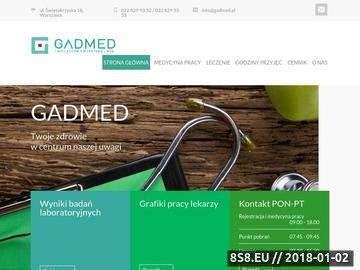 Zrzut strony Usługi medyczne w ramach NFZ oraz prywatnie