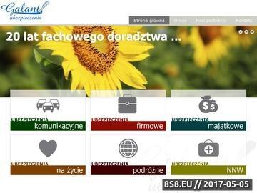 Zrzut strony Ubezpieczenia komunikacyjne OC, AC, NNW: Galant SC agencja ubezpieczeniowa