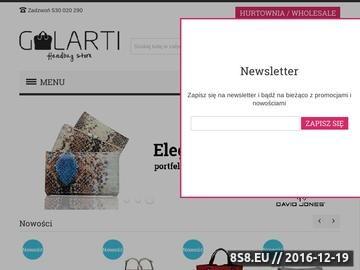 Zrzut strony Galarti - sklep online z torebkami