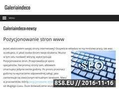 Miniaturka domeny www.galeriaindeco.pl