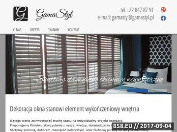 Zrzut strony Żaluzje Warszawa