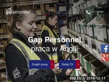 Zrzut strony Pośrednictwo pracy w Wielkiej Brytanii