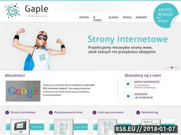 Zrzut strony Pozycjonowanie stron Poznań - Gaple - skuteczne pozycjonowanie